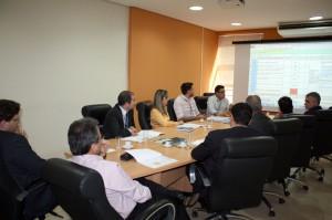 A reunião de autoavaliação contou com a participação da Alta direção e de representantes de setores do TCE