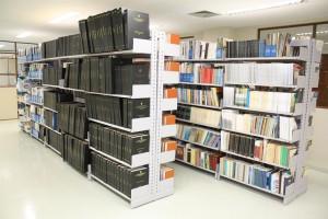 A Biblioteca do TCE-RO funciona no segundo andar do edifício sede
