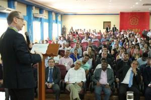 Em seu pronunciamento, o conselheiro Miola agradeceu à honraria recebida do TCE-RO