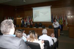 O secretário de Planejamento do TCE, Juscelino Vieira, abordou números relativos à execução do Plano Estratégico 2016/2020