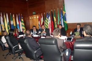 O conselheiro do TCE-TO, Severiano Andrade, em sua fala aos participantes do encontro em Rondônia