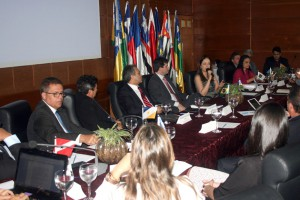 A presidente do CNPGC, Cláudia Pereira, coordenadora dos trabalhos da reunião dos MPCs, realizada pela primeira vez no Estado de Rondônia