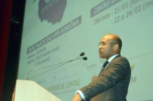 O conselheiro Wilber Coimbra, presidente da Escon, disse que o seminário demonstra a vocação do TCE-RO na busca da profissionalização da administração pública