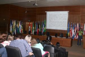 A nutricionista Áurea repassou orientações sobre alimentação saudável
