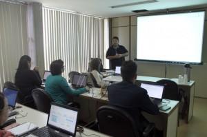 Os servidores do Escritório de Projetos participaram da capacitação na sala da Setic
