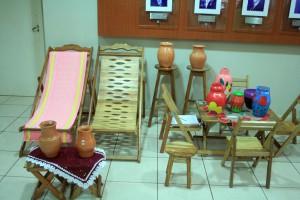 Exposição de produtos artesanais no TCE