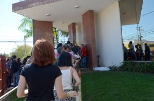 Servidores retornaram ao serviço, após o exercício simulado de evacuação do prédio do TCE