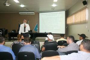 Técnica Legislativa foi tema da última palestra do evento, ministrada pelo instrutor Laércio Fernando