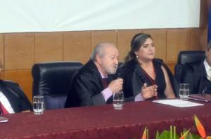 Conselheiro Valdivino Crispim em seu discurso de posse