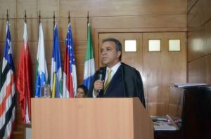 O conselheiro presidente Edilson de Sousa destacou pontos de seu primeiro mandato e disse pronto para os desafios do novo biênio
