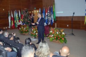 O conselheiro presidente Edilson de Sousa citou o espírito natalino como inspiração para os servidores-coralistas