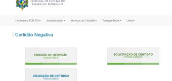 TCE disponibiliza ferramenta de emissão online de certidão negativa para pessoa jurídica