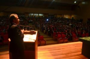 O conselheiro presidente Edilson de Sousa citou os desafios e conquistados do TCE-RO nesses 35 anos de existência