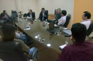 Reunião de trabalho realizada na sede do Tribunal de Contas
