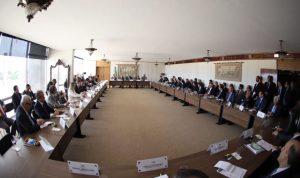 O diálogo institucional reuniu representantes do Poder Judiciário, dos Tribunais de Contas e do Governo Federal