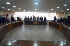 O presidente do TCE, conselheiro Edilson de Sousa, participou da abertura do Ano Judiciário 2019