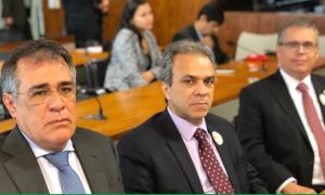 A comissão executiva do CNPTC, composta pelos conselheiros Joaquim de Castro (TCM-GO), Edilson de Sousa (TCE-RO) e Severiano Costandrade (TCE-TO), esteve presente à reunião