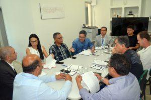 O coordenador executivo Marc Uiliam e o membro da equipe, Rodrigo Ferreira, representaram o Profaz durante a reunião na SPU