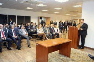 O presidente do CNPTC e do TCE-RO, conselheiro Edilson de Sousa, participou da solenidade de assinatura da cooperação técnica envolvendo Atricon