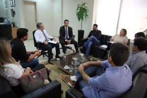 Os conselheiros Edilson de Sousa e Benedito Alves na audiência com os representantes do Cofen e do Coren-RO
