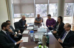 O conselheiro do TCE-RO, Paulo Curi Neto, foi recebido pelo conselheiro do TCE-RS, Cezar Miola, que preside o Comitê Técnico da Educação do Instituto Rui Barbosa